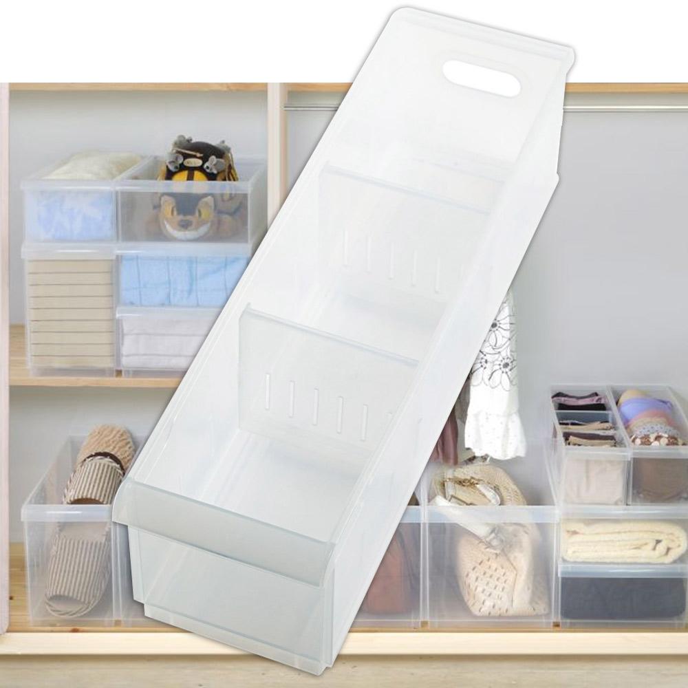 [愛收納]積木式 Fine05隔板整理盒(附輪)二入組