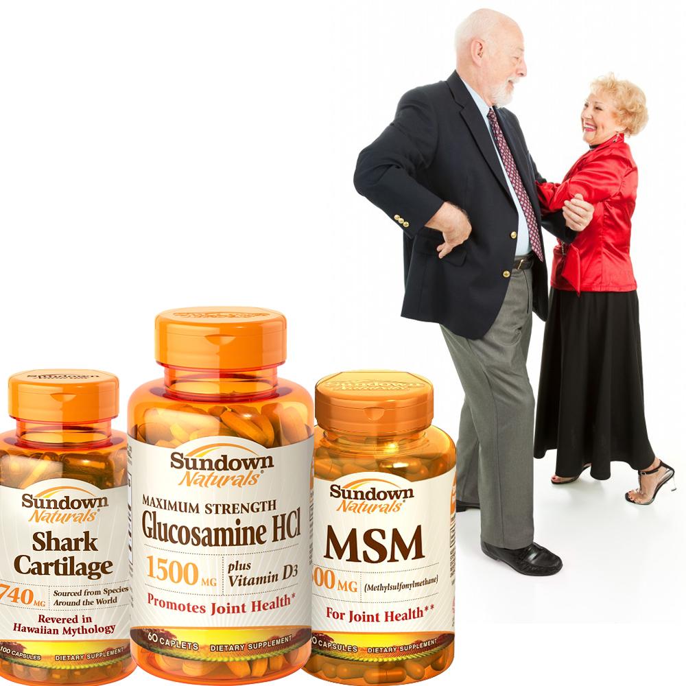 《Sundown日落恩賜》靈活動感加強組-(葡萄糖胺+鯊魚軟骨+MSM)