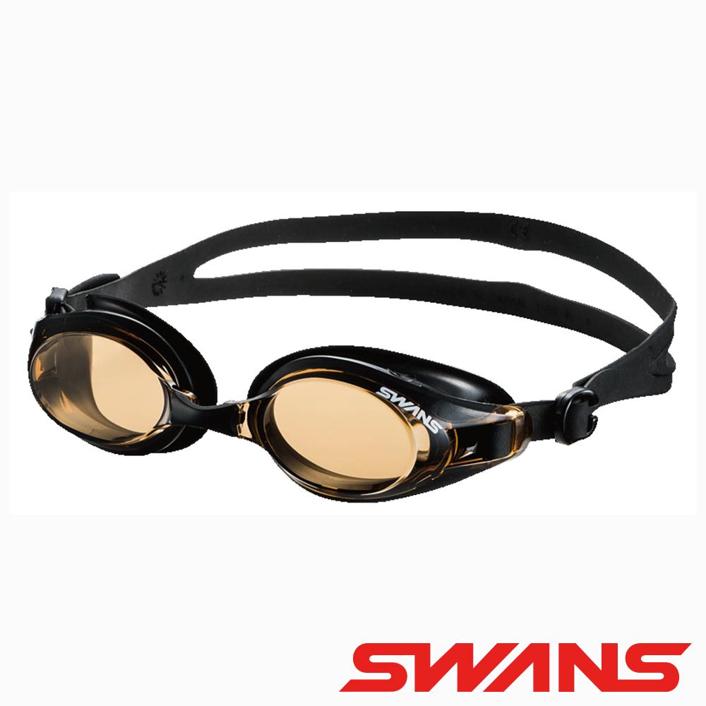 SWANS日本光學通用型泳鏡防霧抗UV SW-32棕黑