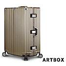 【ARTBOX】飆風悍將-29吋PC拉絲紋鋁框行李箱 (香檳金)