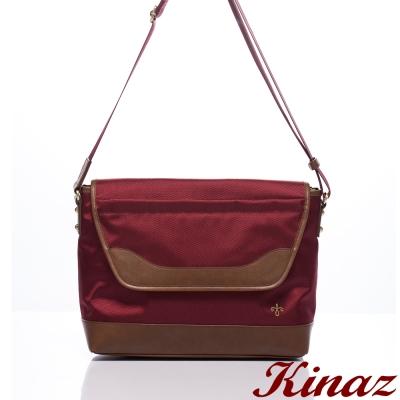 KINAZ-navy-復古簡約兩用斜背郵差包-活躍紅-日式休閒系列-特賣品