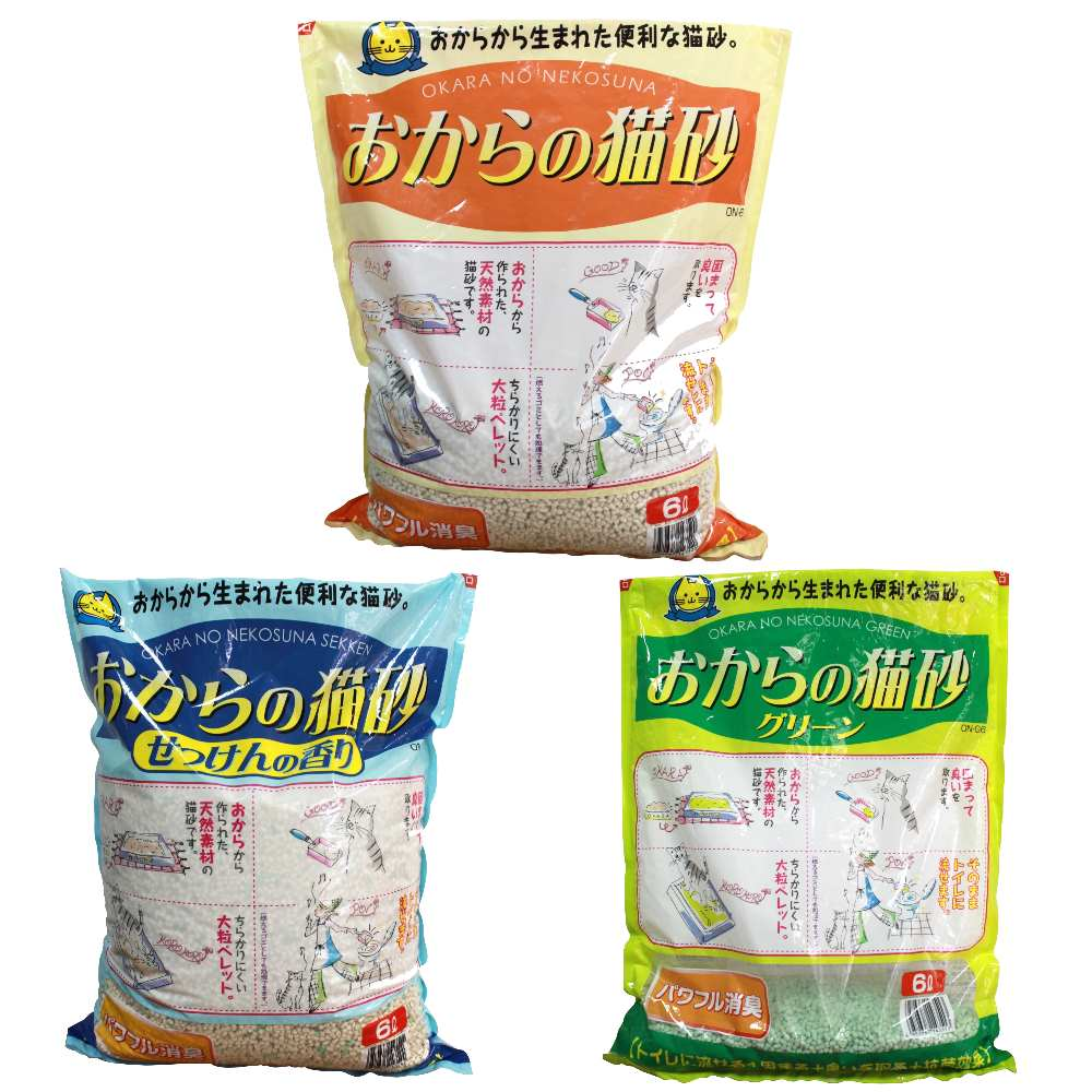 皇家ROYAL OKARA天然環保豆腐砂 6L 三包組