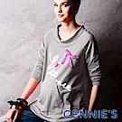 Gennies-010系列-經典英文印圖口袋孕婦上衣(T3255)紅/灰二色可選