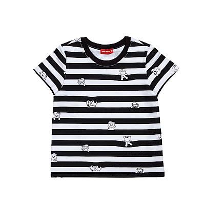 WHY AND 1/2 條紋棉質萊卡T恤 5Y~10Y