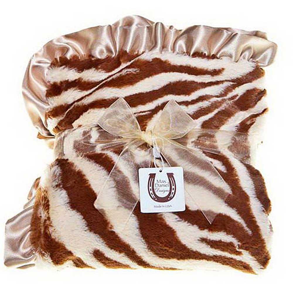 Max Daniel 動物紋系列 棕色斑馬款 嬰兒毯攜帶毯