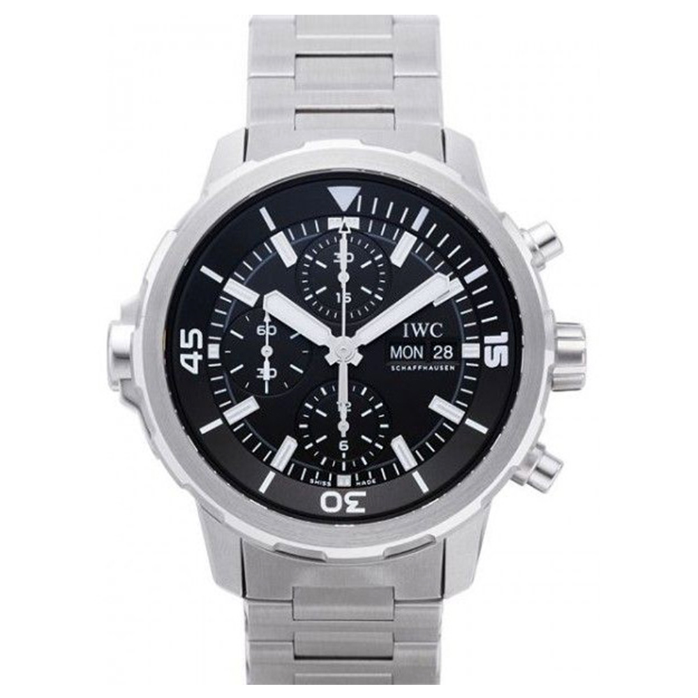 IWC 萬國錶 海洋時計計時黑面鍊帶腕錶( IW376804)-44mm