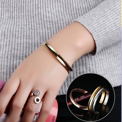 ACUBY-鋼製簡約手環-玫金