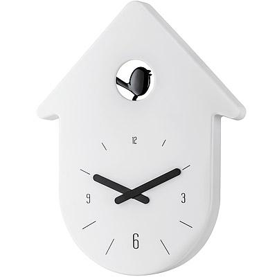 KOZIOL 布穀鳥壁面時鐘-白