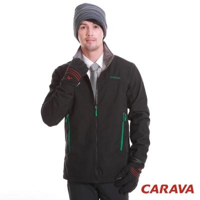 CARAVA 《軟殼防水禦寒外套》黑