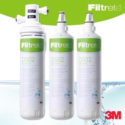 3M-DS02極淨便捷DIY可生飲淨水器-2支濾心