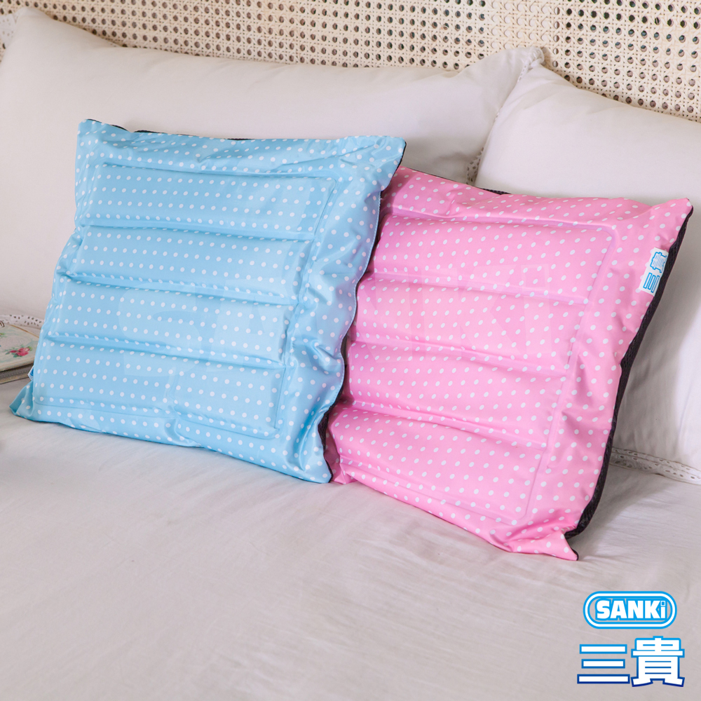SANKI三貴-兩用冰涼坐墊靠枕-寶貝藍1入