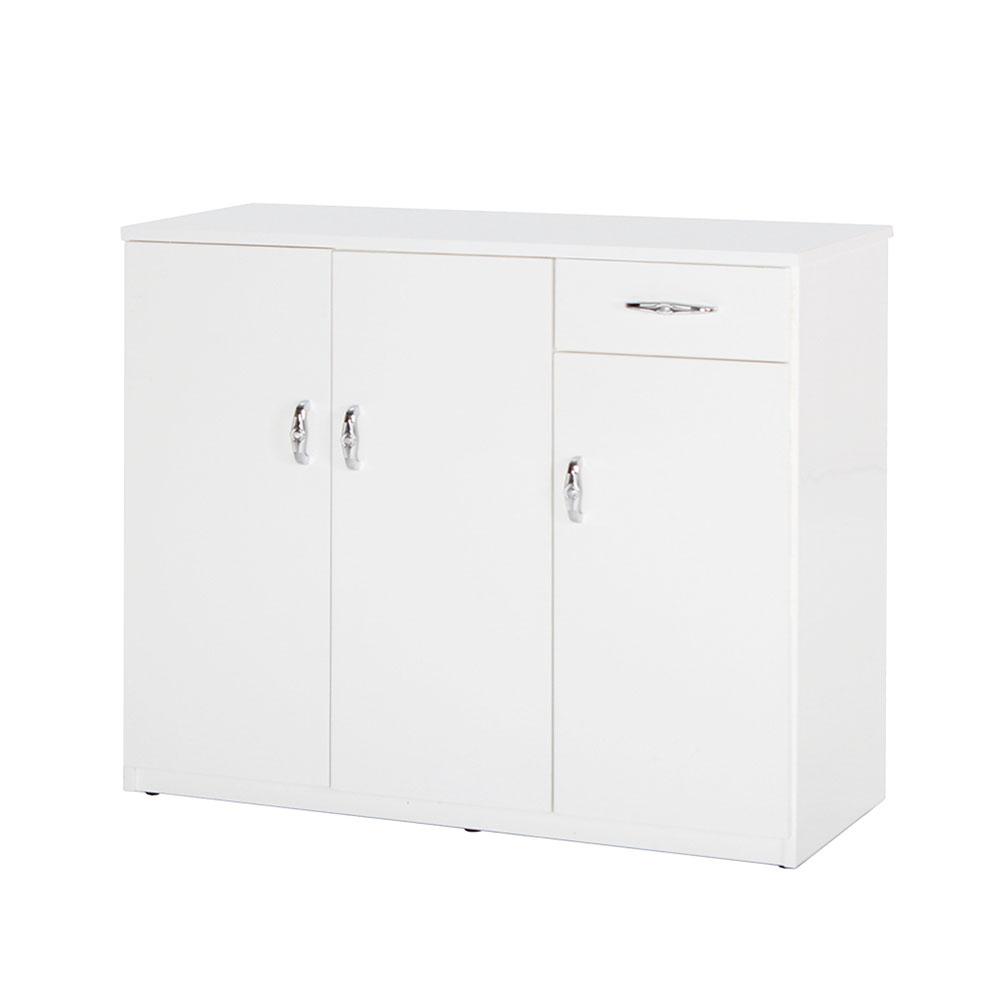 Bernice-防潮防蛀 塑鋼3尺三門一抽鞋櫃(七色)-96x37x112cm