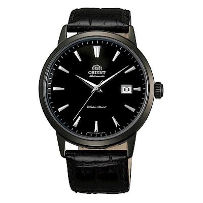 ORIENT 當代時尚黑鋼自動上鍊機械腕錶(FER27001B0)-黑/41mm