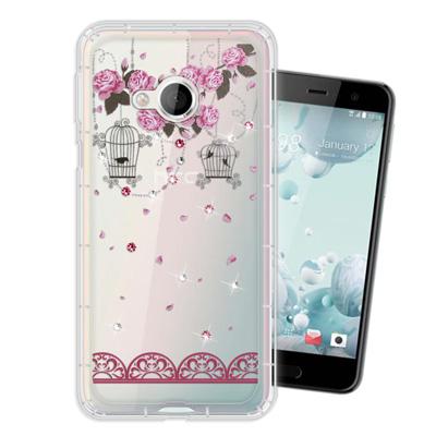 WT HTC U Play 5.2吋 奧地利水晶彩繪空壓手機殼(璀璨蕾絲)