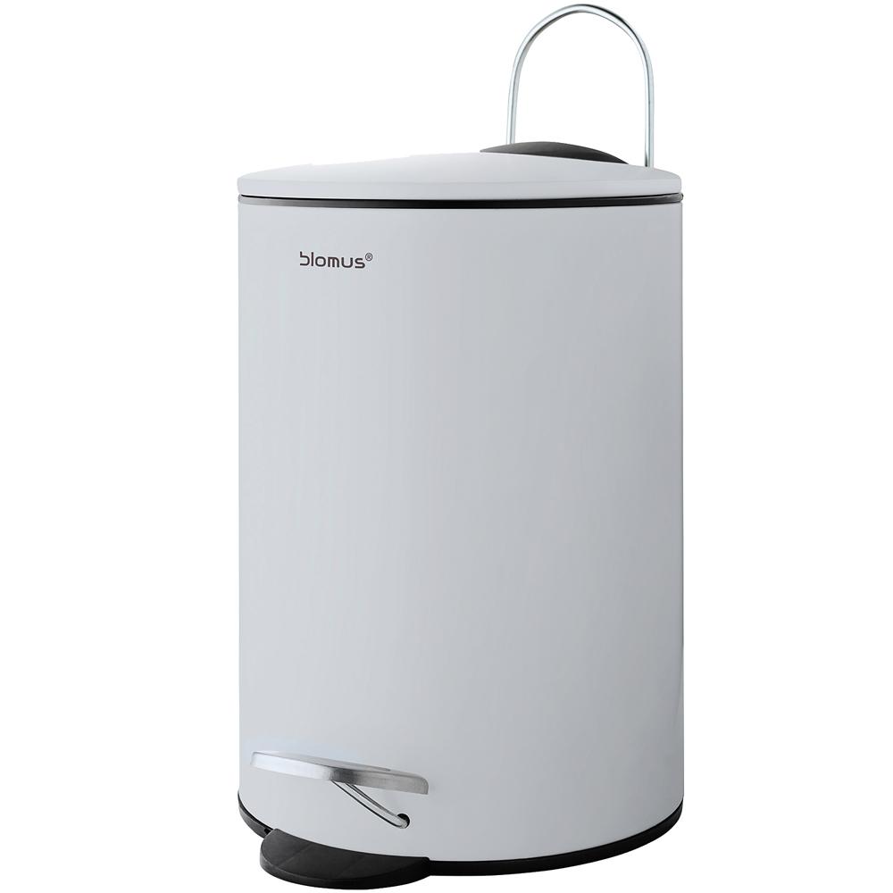 BLOMUS Tubo腳踏式垃圾桶(灰白3L)