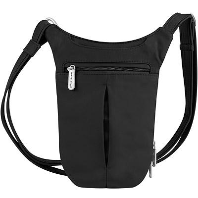 TRAVELON 防盜薄型側背包 (黑)