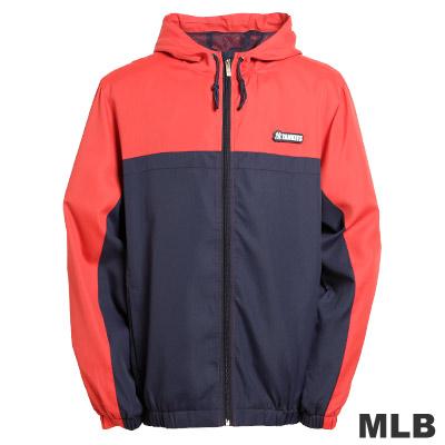MLB-紐約洋基隊連帽風衣外套-深藍(男)