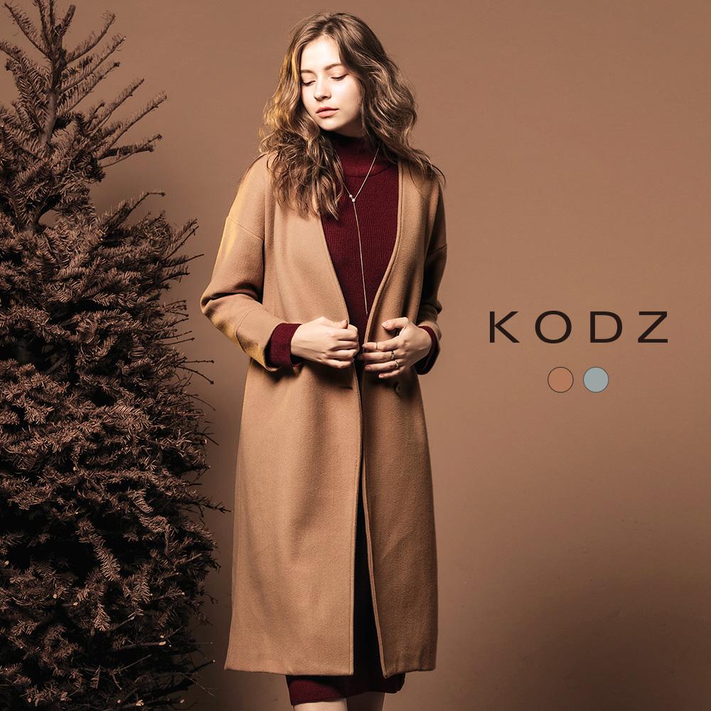 東京著衣-KODZ 歐美部落客質感修身設計大衣外套-S.M(共二色)