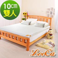 LooCa 特級天絲10cm頂級記憶床墊-雙人