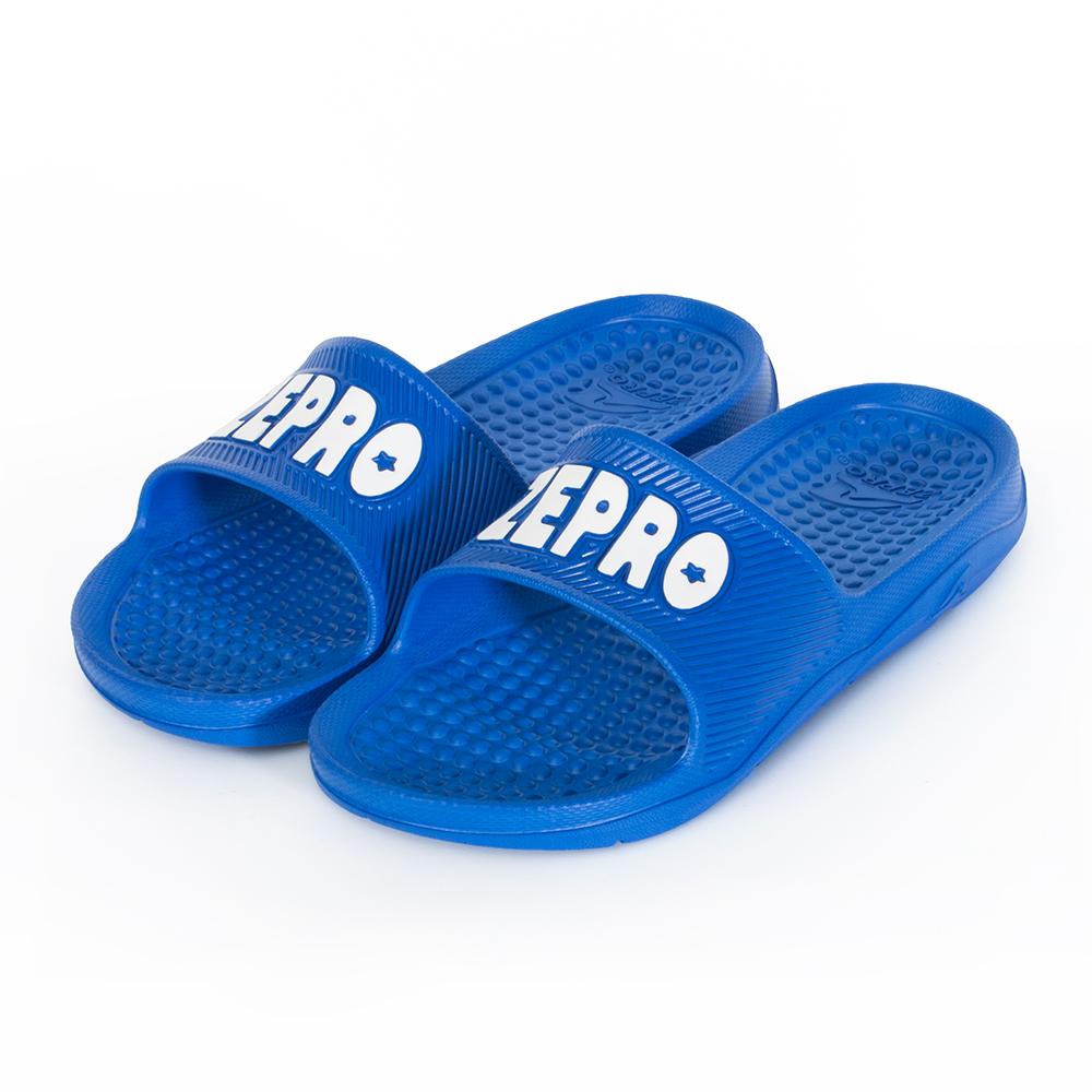 【ZEPRO】男款休閒拖鞋LIGHT系列-湛藍