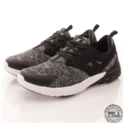 FILA男款 黑白 雪花 運動慢跑鞋 基本款1-X903R-001