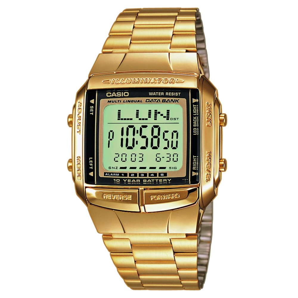 CASIO 數位城市光廊電子數字錶(DB-360G-9A)-金/37.7mm