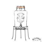[限時下殺59折] KILNER 經典款派對野餐飲料桶組(含桶架) 5L