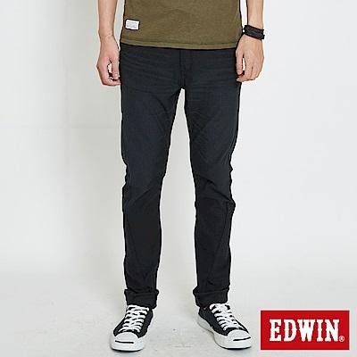EDWIN 迦績褲EF磨毛保溫直筒色褲-男-黑色