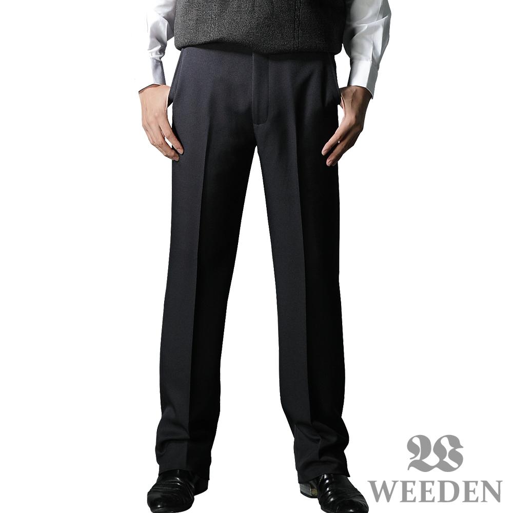 【WEEDEN】精緻質感暗斜紋平面西褲‧復刻藍