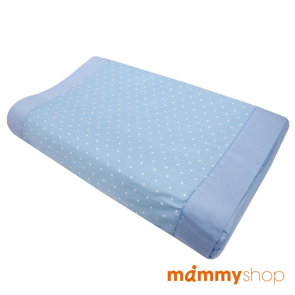 媽咪小站-嬰兒乳膠護頸枕 (藍)