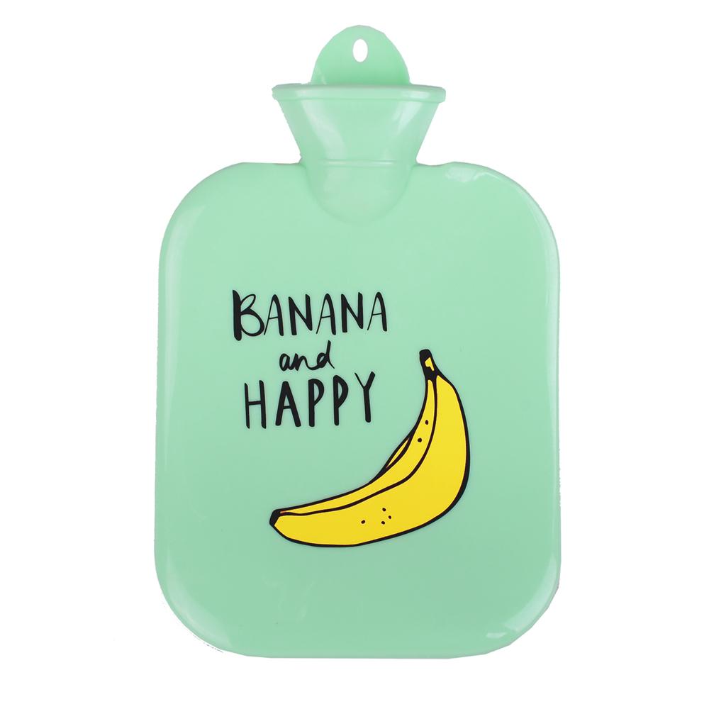 微甜馬卡龍保暖熱水袋/暖手袋 1300ml (綠色香蕉)