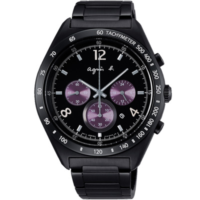 agnes b.時尚玩酷計時腕錶(BW8004P1)x42mm