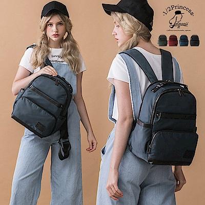 1/2princess高磅尼龍防潑水雙層可以裝很多的背包-4色[A2749]
