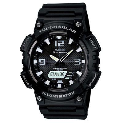CASIO 新一代光動遊俠雙顯運動腕錶(AQ-S810W-1A)-黑x白時標/46.6mm