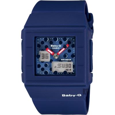 CASIO卡西歐 卡西歐 Baby-G 行李箱時尚雙顯錶-藍/ 43 . 2 mm