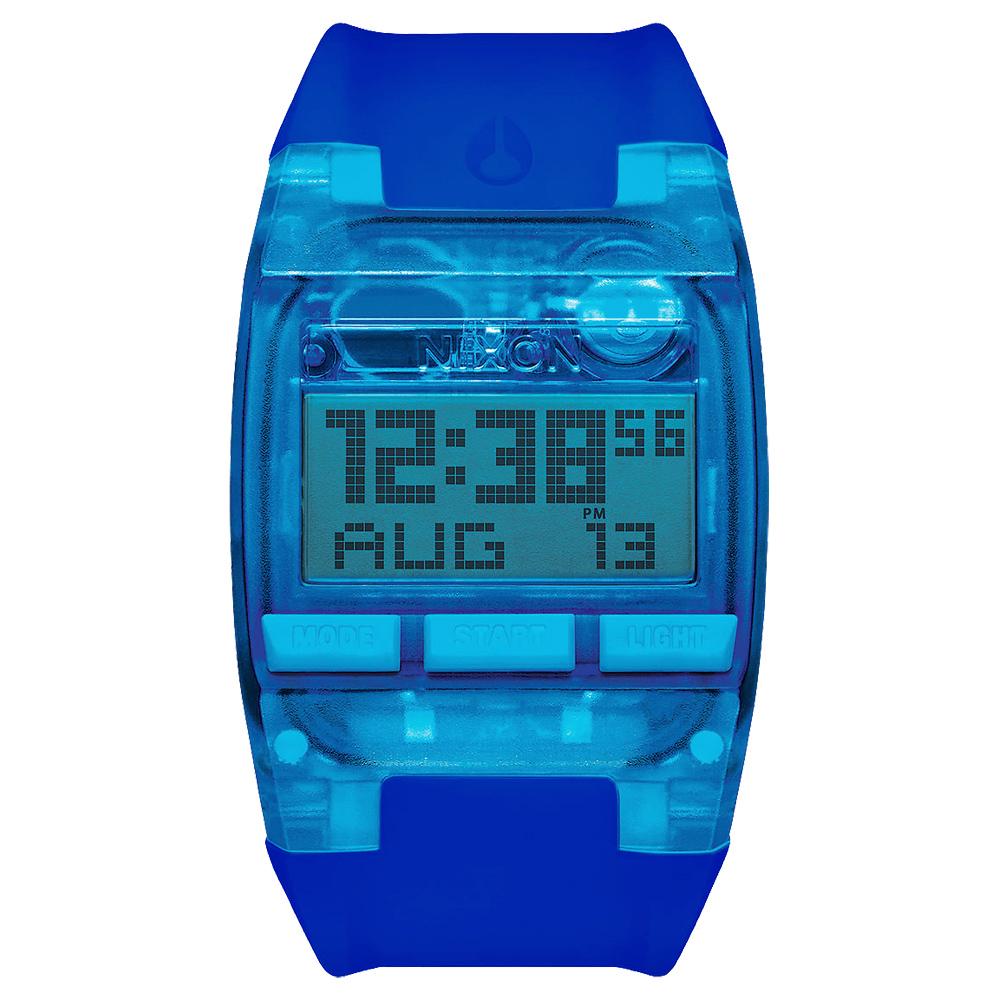 NIXON COMP 浪花海潮休閒運動電子錶-藍x大/38mmX29mm