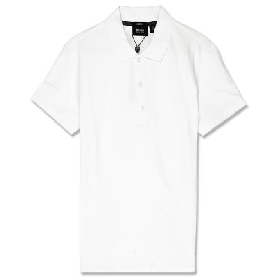 HUGO BOSS 黑標素面POLO男衫(白)