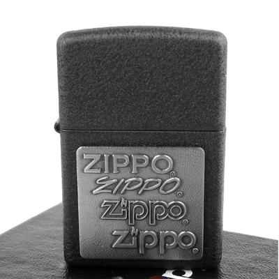 【ZIPPO】美系~四代LOGO-Pewter Emblem(白鑞貼飾)
