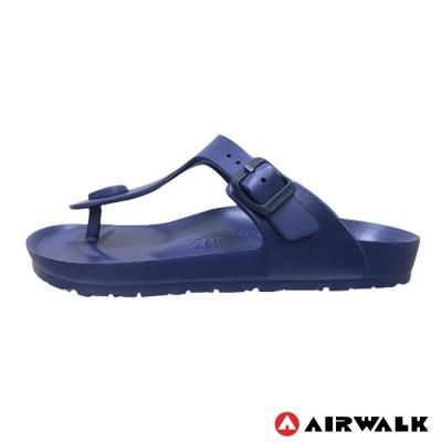 美國AIRWALK百搭羅馬夾腳拖鞋-深藍色