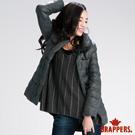 BRAPPERS 女款 女用牛角釦羽絨外套-深灰