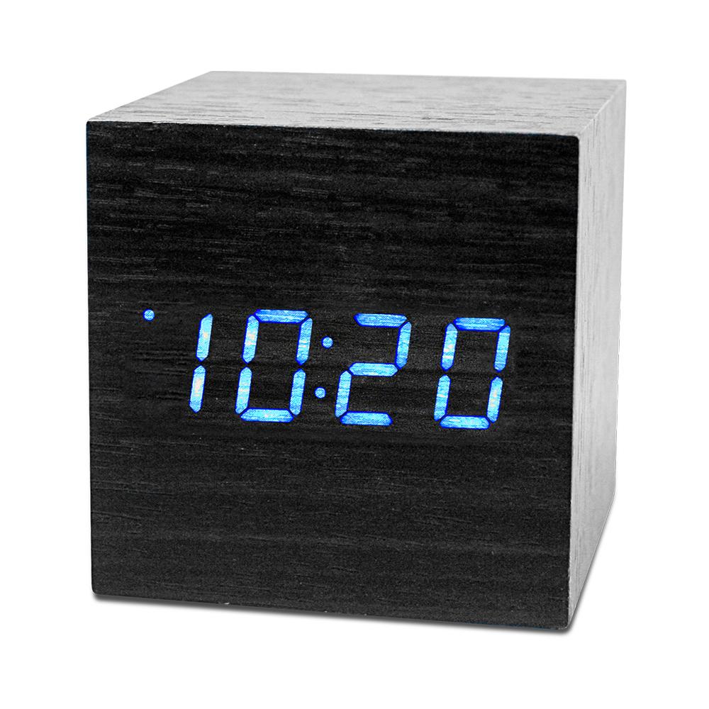 KINYO迷你LED聲控木頭鬧鐘TD520