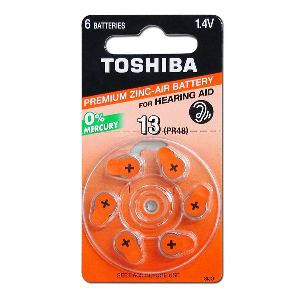 TOSHIBA 東芝 PR48/S13/A13/13 空氣助聽器電池(1卡6入)