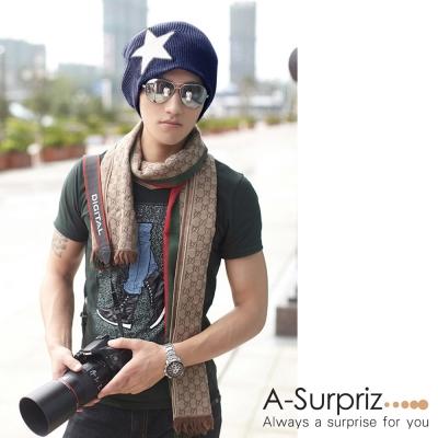A-Surpriz 運動休閒星星針織帽(灰)
