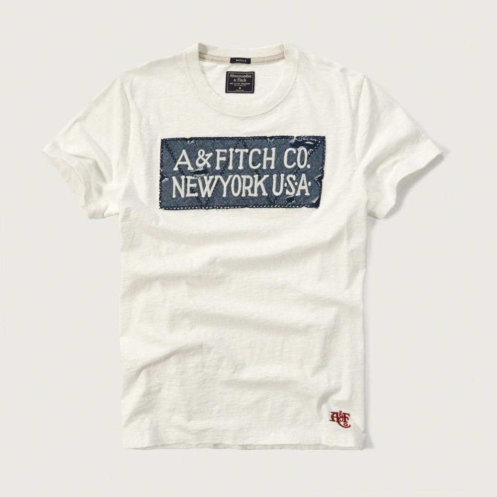 AF a&f Abercrombie & Fitch 短袖 T恤 白色 113
