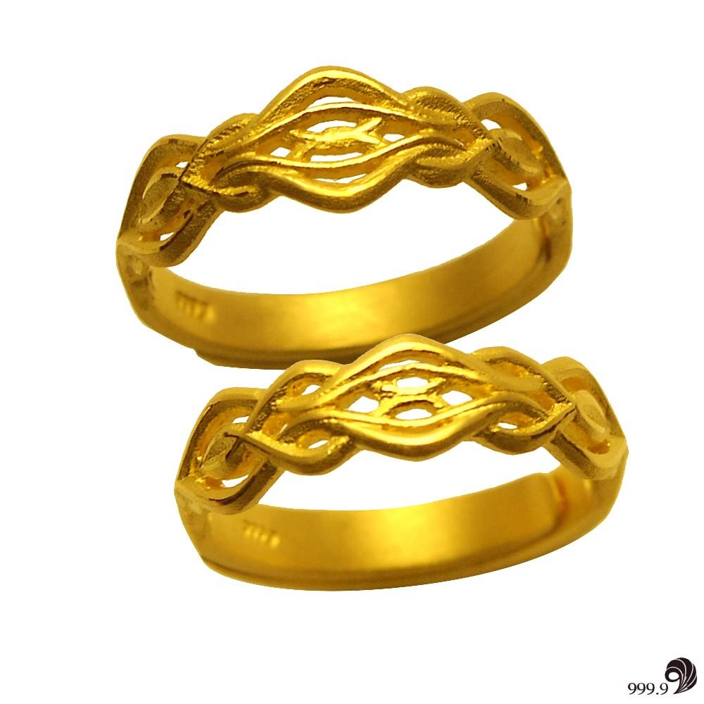 歷代風華-幸福相守黃金對戒(約2.95錢)