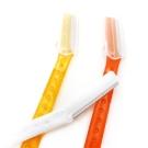 kiret透明果凍色安全兩用美體修眉刀6入兩用美體除毛刀