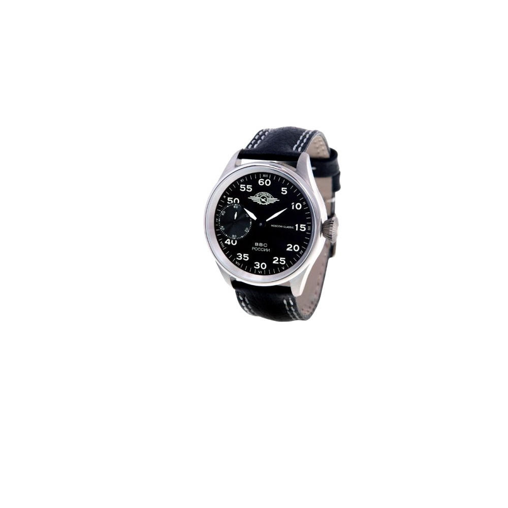 MOSCOW CLASSIC 俄羅斯征服飛航機械腕錶-黑/白標/41mm