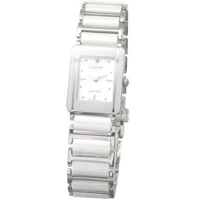 Canody 珍愛時光陶瓷腕錶-白/ 17 x 23 mm