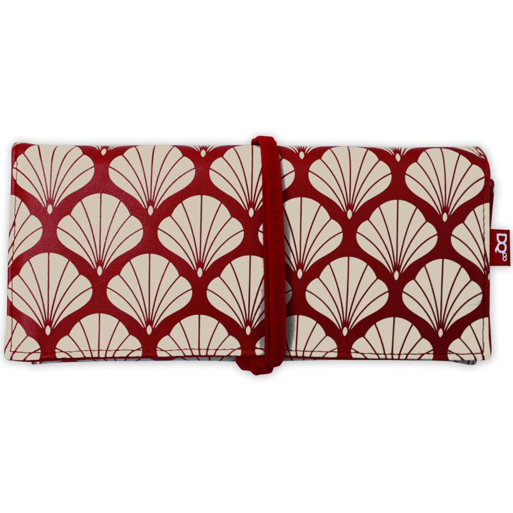 DQ Jewel 3折式隨行珠寶袋(紅銀杏)