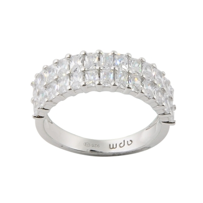 apm MONACO法國精品珠寶 閃耀方形造型鑲鋯戒指